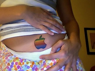 apple tatoo 4