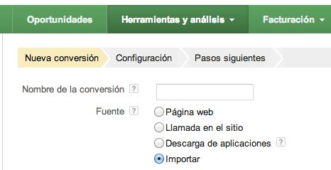 Importar conversiones offline en Adwords