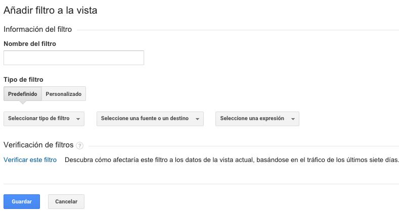 configurar filtro google analytics