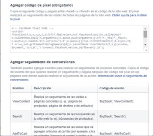 generar pixel facebook ads