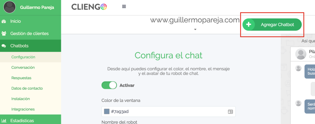 chat robot para facebook