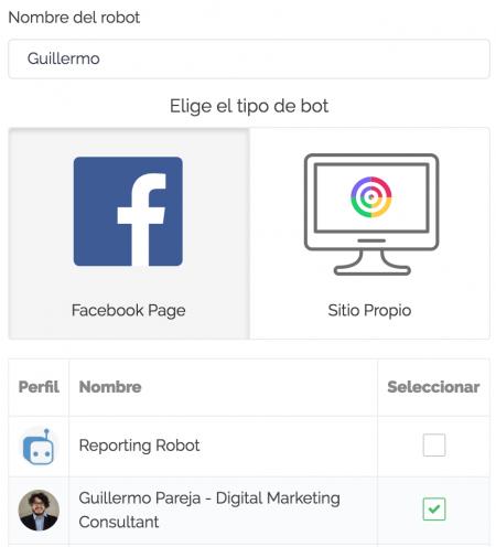 chat robot facebook
