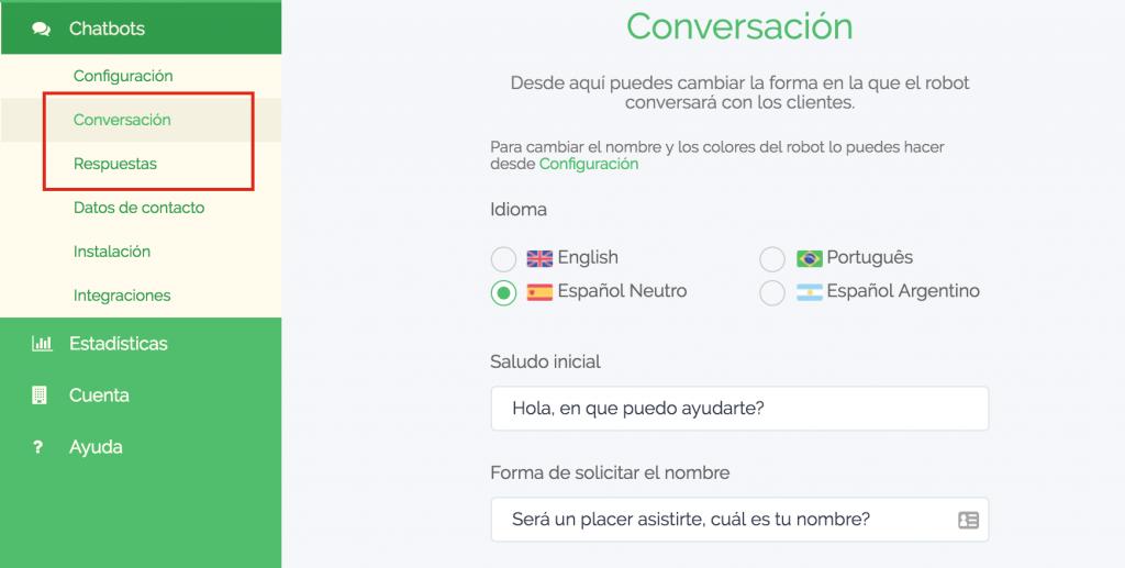 chatbot para pagina de facebook
